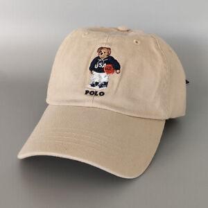 Nubuck Polo Embroidery Basketball Bear Men's Hat Soccer Vintage Baseball Cap