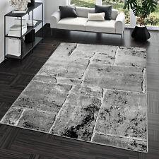 Teppich Steinboden Marmor Optik Design Modern Wohnzimmerteppich Grau Top Preis