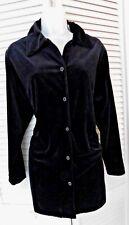 Diane Von Furstenberg Vintage Size Med Black Velvet Velour Jacket Cover-up Poly