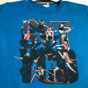 So You Think You Can Dance 2013 Tour Youth XL YXL Short Sleeve T Shirt Blue Crew