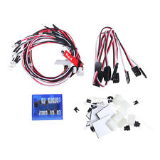 12 LED Flashing Head Light System Lighting Kit For RC 1:10 Scale Car Helicopter