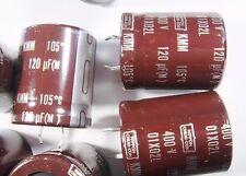 2 x 120uf 400v 105 ° C Elko Radial Snap in Nippon #15e30#