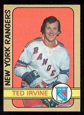 1972 73 OPC O PEE CHEE HOCKEY #212 TED IRVINE EX+ NEW YORK N Y RANGERS CARD