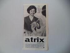 advertising Pubblicità 1962 CREMA ATRIX - LABORATORI COSMOCHIMICI