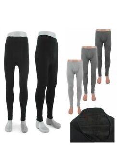 Herren Thermo Unterhose 2er Pack lange Winter Skihose Fleece Leggings  M- XXXL