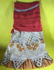 NWT DISNEY PRINCESS MOANA HAWAIIAN DRESS UP HALLOWEEN COSTUME GIRLS SIZE 4 5 6