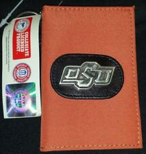 NWT OSU Oklahoma State University Cowboys Keychain wallet Silver tone OSU Concho