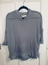 Gilly Hicks Grey Net Sweat Top Hoodie / Size M -Premium