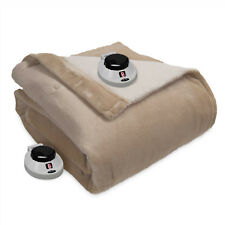 Therapedic Invisiwire Ultimate Plush/Sherpa Electric Warming Blanket - Queen