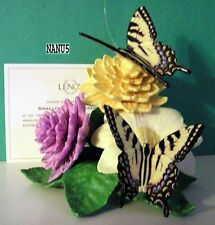 LENOX SWALLOWTAIL SPLENDOR BUTTERFLY Sculpture NEW in BOX with COA Dahlia Flower