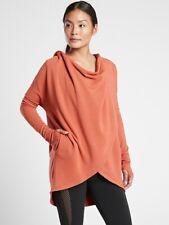 ATHLETA Purana Wrap Sweatshirt  L Large | Etruscan Red Hooded Top NEW