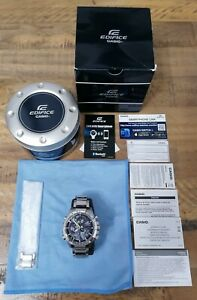Casio Edifice EQB-500D-1A Watch with protective glass screen