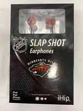 Minnesota Wild NHL Slapshot Earphones In-Ear Headphones - iPhone/Android Earbuds