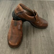 Clarks Escalade Slip On Loafers Mens 11M Brown Leather 70846