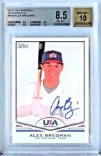 2011 Topps USA Baseball Alex Bregman RC Autograph AUTO BGS 8.5/10! 0.5 from 9!