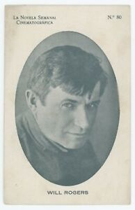 Silent Movie Actor Will Rogers Spanish Cinematographic Weekly Photo Card