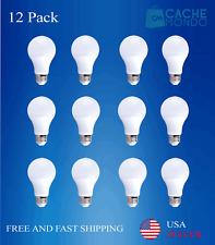 12 X 9W A19 LED Light Bulb 60W Equivalent 5000K- Cool White  ETL