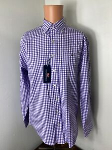 Vineyard vines men's purple checkered classic fit button down shirt size Small