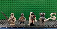 Ninjago Minifig Lot of 4  Frakjaw, Rattla & 2 Mummys Lego Mini Figure snake +