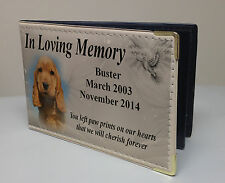 Personalised faux leather photo album, memory book, Cocker spaniel dog gift