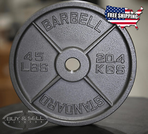 Iron Olympic Plates - 45lb, 25lb, 10lb, 5lb Weight