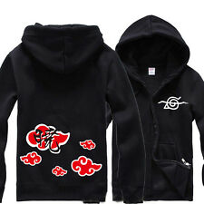 Anime Naruto Itachi Uchiha Hoodie Hooded Sweatshirt Cotton Zip Cosplay Coat Gift