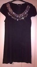 Jasper Conran festive long black tunic dress party size 8