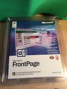 Microsoft Front Page Version 2002 Web Site Software Product Key Original Package