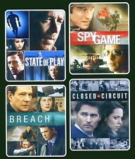 4 conspiracy movies State of Play, Spy Game, Breach, Closed Circuit, new DVD set