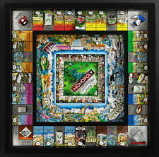 Monopoly World Edition from Artist Charles Fazzino by WS Game Company Framed Art