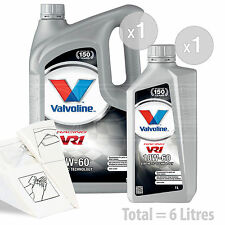 Car Engine Oil Service Kit / Pack 6 LITRES Valvoline VR1 Racing 10w-60 6L