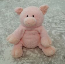 """RARE Ty 2006 Pluffies Piggy the Pink Pig Stuffed Plush Toy Dangles Lovey 10"""""""