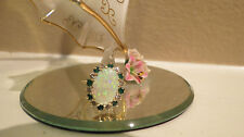 Ladies Diamond Opal & Emerald Ring ~14 K Yellow Gold  Sz 6.5 Original Owner NICE