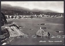 SAVONA ALBISSOLA 56 Cartolina FOTOGRAFICA viaggiata 1960