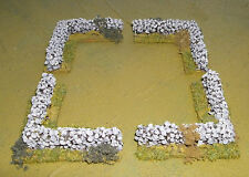 WARGAMES  DRYSTONE WALL CORNER'S  Flames of war  WW2 rapidfire made by FATFRANK