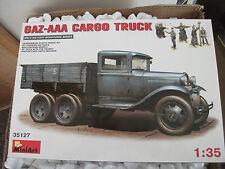 MIN35127 Miniart 1:35 GAZ-AAA Cargo Truck plastic model kit photoetch & figures