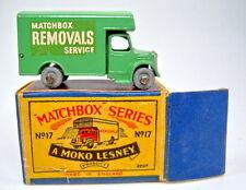"Matchbox RW 17A Removal Van hellgrün in ""MOKO"" Box"