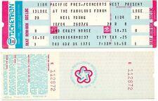 NEIL YOUNG & CRAZY HORSE Unused Concert Ticket LA Forum 1976