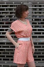 true vintage Damen Overall kurz Gr. 36 Shorts 80er Schmetterling apricot 90er