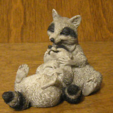 """Castagna Animal Figurines #465 RACCOON Lovers  2.75"""" NEW/Box From Retail Store"""