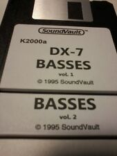 Kurzweil ~ DX-7 BASSES ~  vol.1&2 Floppy Disk Set w/Native Kurzweil Programs!!!