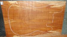 Flame Curly Maple Wood 8276 Luthier 5A Solid Body Guitar Top Set 23x14.5 x.375