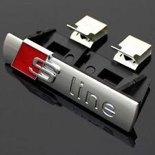 Audi-S-Line-Grill-Emblem-Logo-Aufkleber-S-Q A 1 3 4 5 6 7 Sline badge Schriftzug