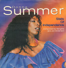 "DONNA SUMMER ‎– State Of Independence (1982 DISCO VINYL SINGLE 7"" HOLLAND)"