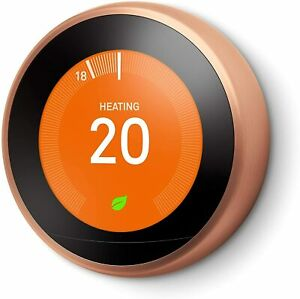 Google Nest Learning Thermostat 3rd Generation Wireless Programmable Copper