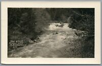 RPPC Postcard Nevada City CA Yuba River to Downieville rushing water Unposted