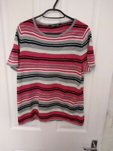PREOWNED LOVELY LADIES BONMARCHE SHORT-SLEEVED JUMPER SIZE 12-14