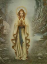 Our Lady of Lourdes by Hector Garrido Visions of Our Lady 1994 Plate Mother Mary