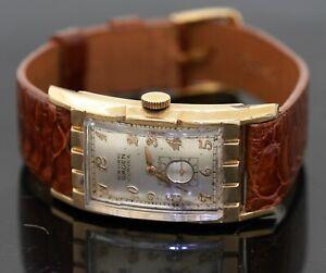 Gruen Curvex antique 10K gold filled manual winding men's watch