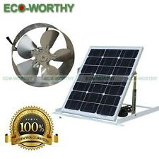 Solar Powered Attic Vent Fan Gable Roof Ventilator Ventilation 29W Mono Panel